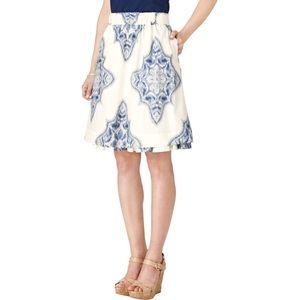 Ivanka Trump Kat Ikat Printed A-Line Skirt